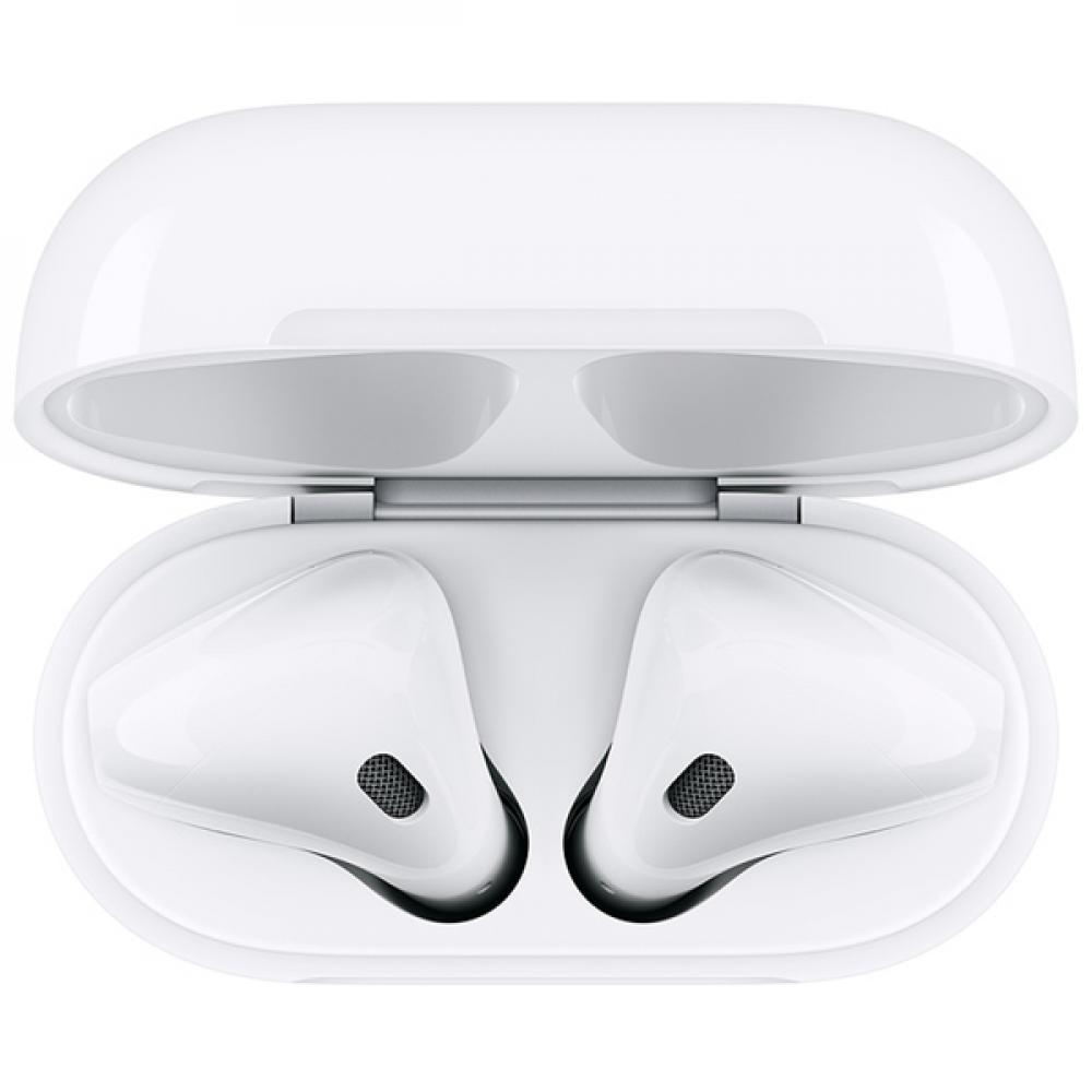 Беспроводные блютуз наушники Apple AirPods 2 (с функцией беспроводной зарядки чехла)