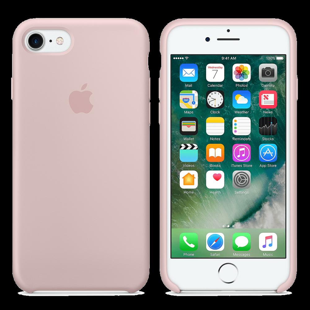 iPhone 8 Plus / 7 Plus Cиликоновый чехол - розовый песок