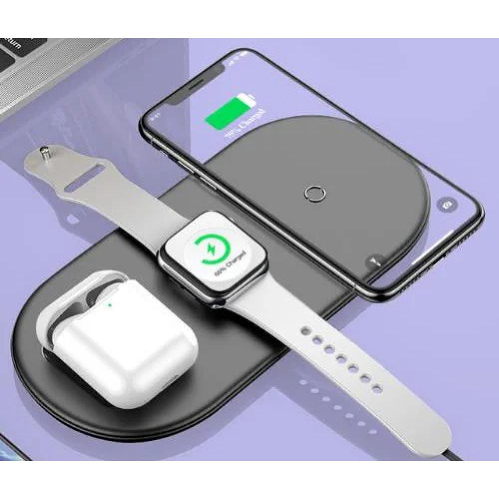 Беспроводное зарядное устройство Baseus Smart 3in1 Black