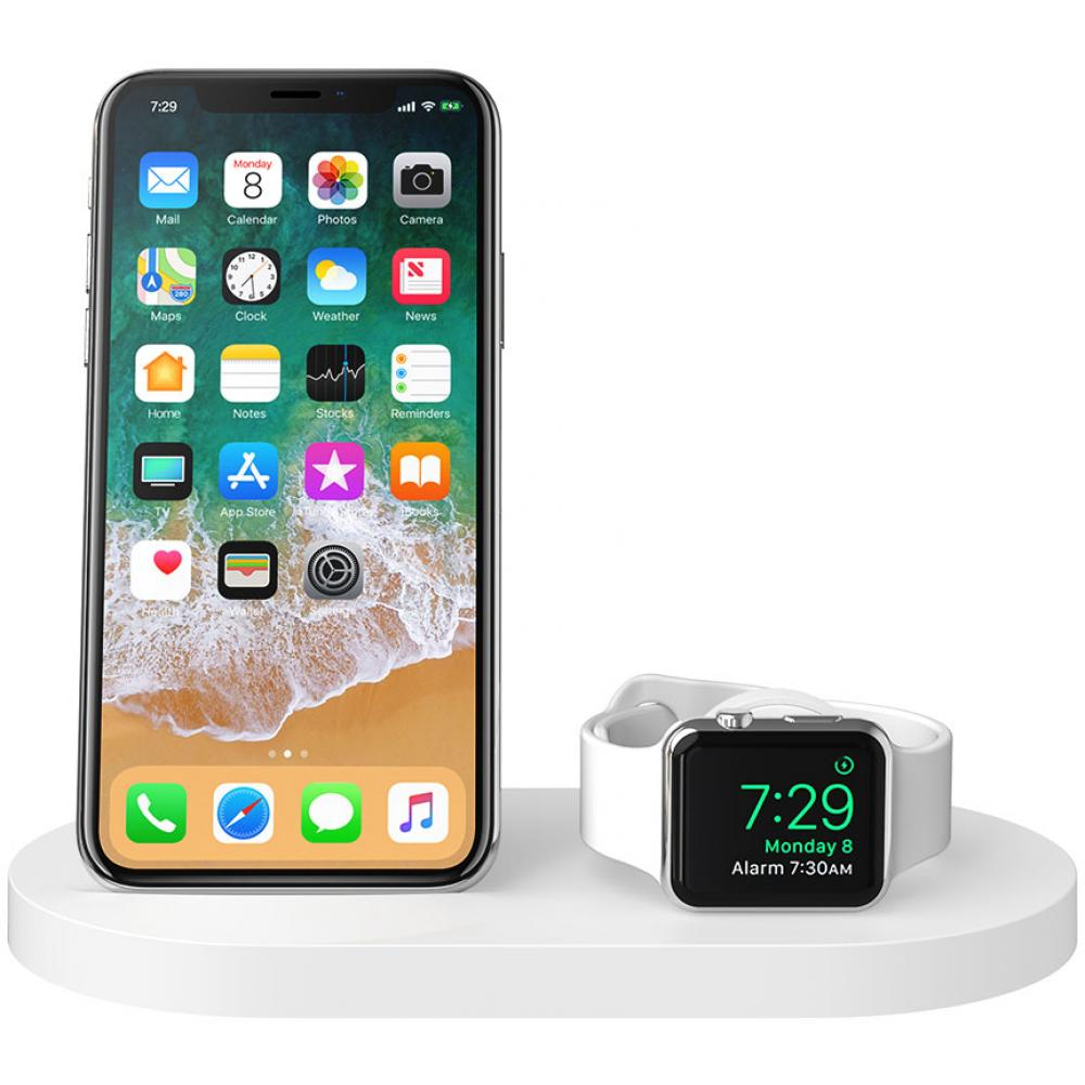 Беспроводная док-станция Belkin Boost Up F8J235vfBLK для iPhone/Apple Watch, White