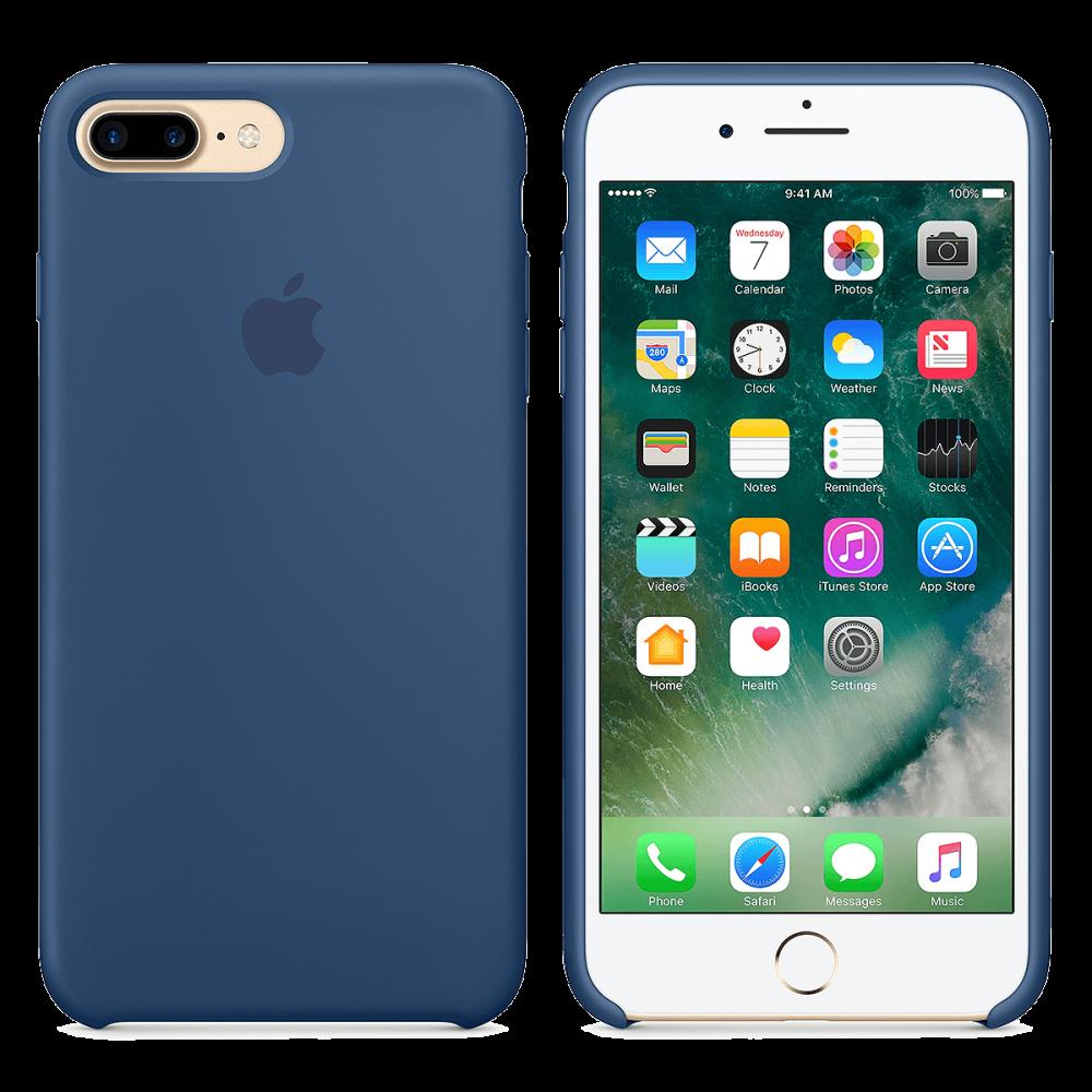Силиконовый чехол iPhone 8 Plus / 7 Plus - Темный кобальт.