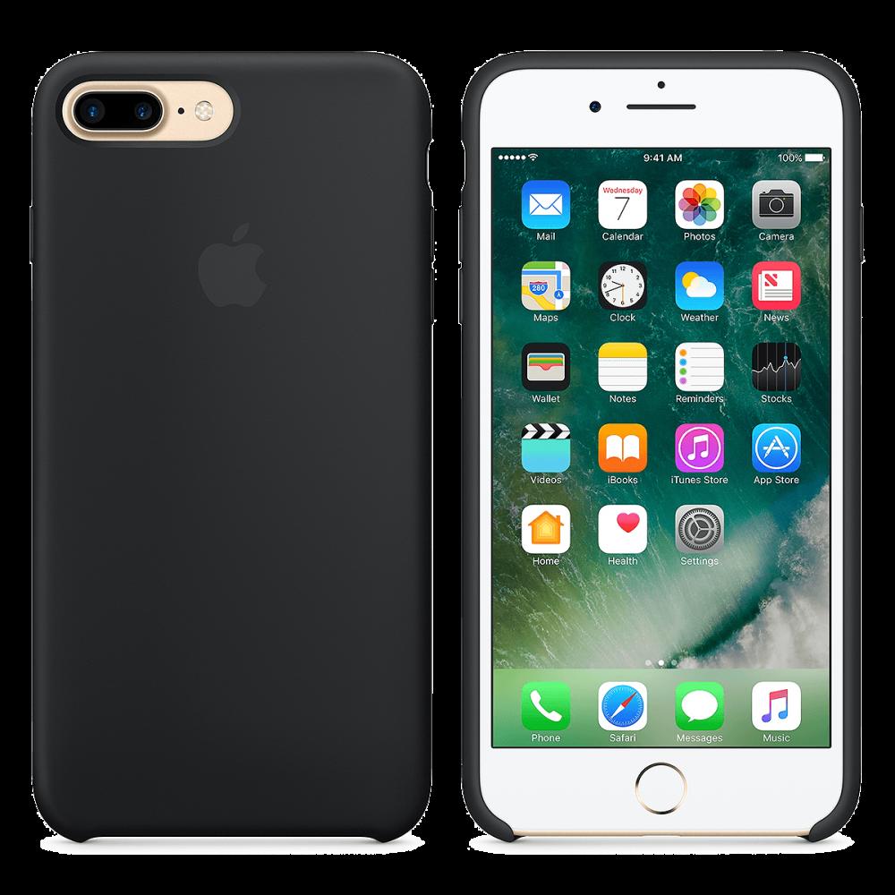 Силиконовый чехол iPhone 8 Plus / 7 Plus - черный.