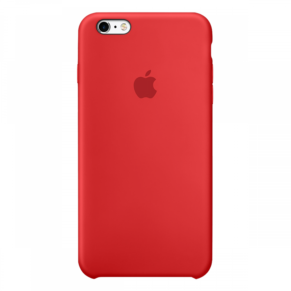 iPhone 6s/6 силиконовый чехол - красный