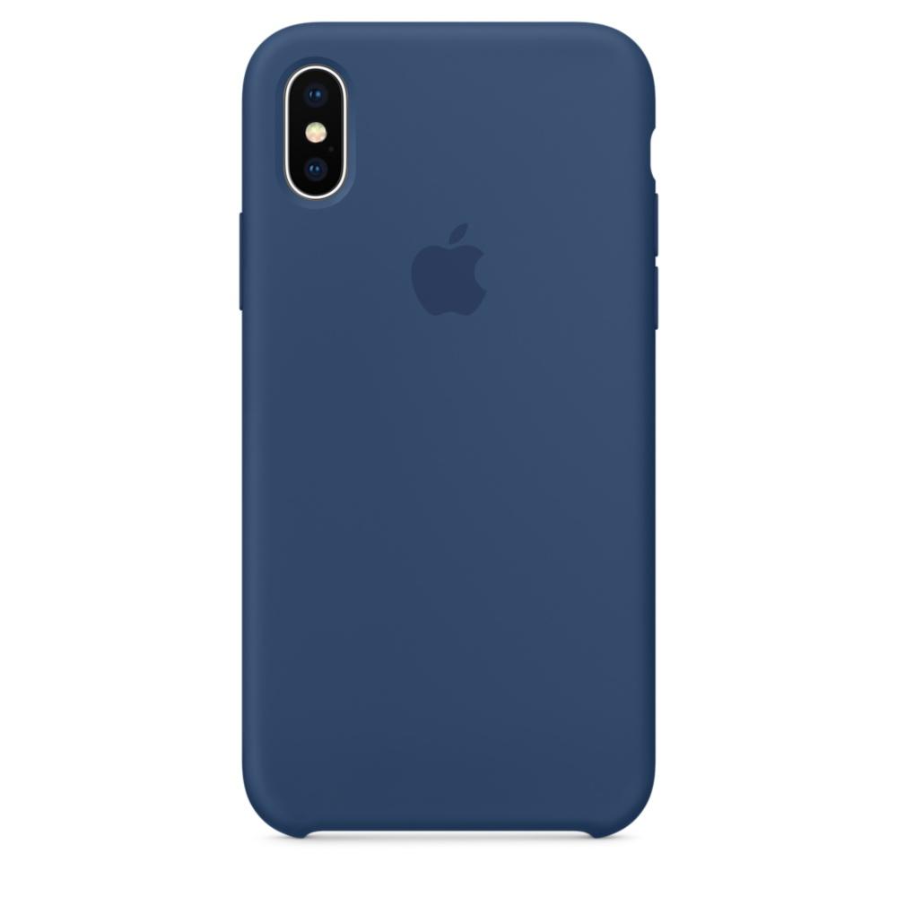 Силиконовый чехол для iPhone X, цвет «тёмный кобальт»