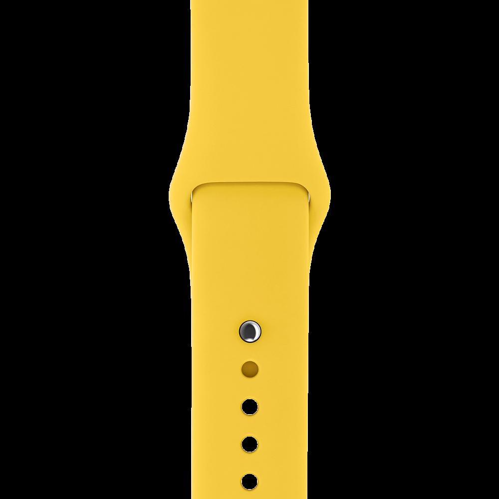 Ремешок Apple Watch 38мм, спортивный желтый