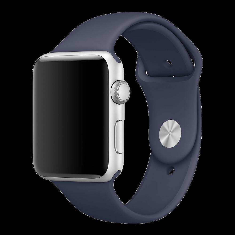Ремешок Apple Watch 42мм, спортивный темно-синий