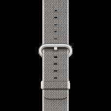 Ремешок Apple Watch 38 мм, из плетёного  нейлона - жемчужно-серый