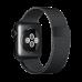 Ремень Apple Watch 38мм, миланский сетчатый «чёрный космос»