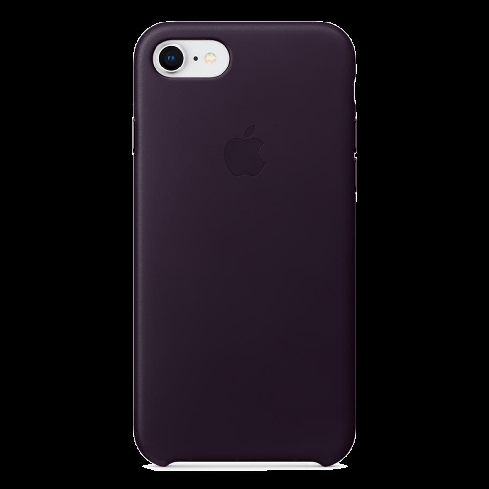 iPhone 8/7 Кожаный чехол - Баклажан