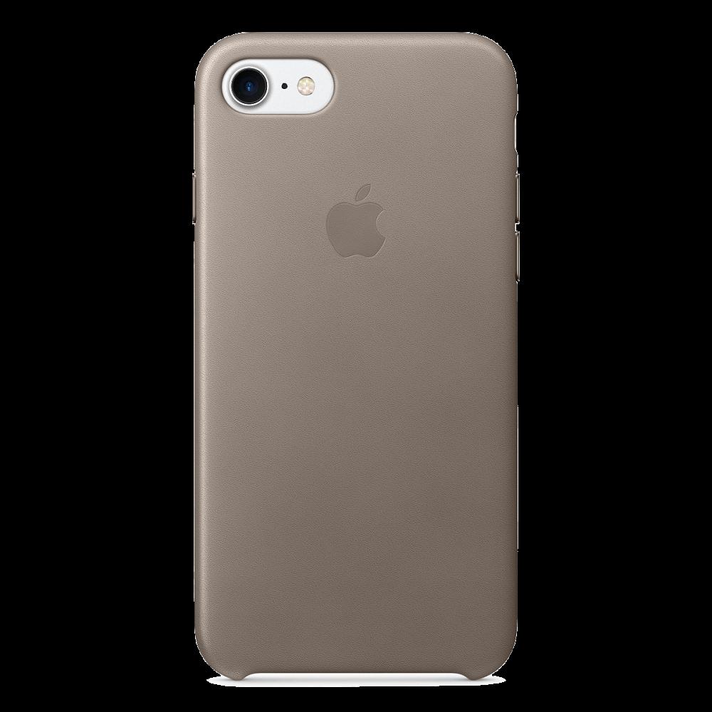 iPhone 8/7 Кожаный чехол - платиновый