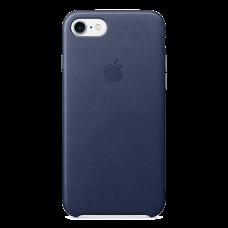 iPhone 8/7 Кожаный чехол - Midnight blue