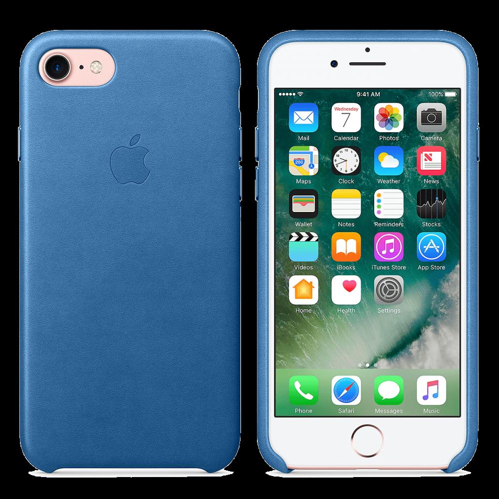 iPhone 8/7 Кожаный чехол - морской синий