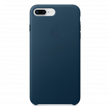 iPhone 8 Plus / 7 Plus кожаный чехол - синий космос