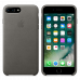 iPhone 8 Plus / 7 Plus кожаный чехол - серый шторм