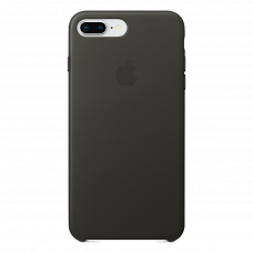 iPhone 8 Plus / 7 Plus кожаный чехол - серый