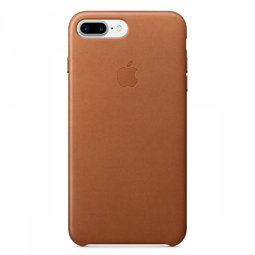 iPhone 8 Plus / 7 Plus кожаный чехол - коричневый