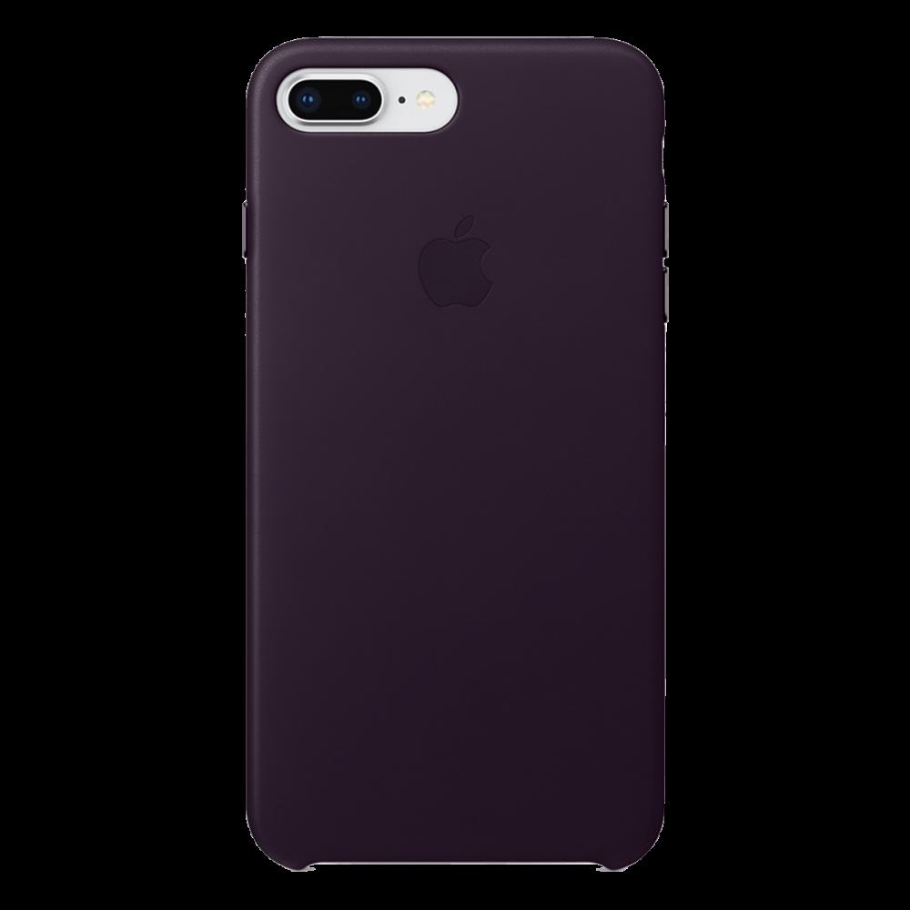 iPhone 8 Plus / 7 Plus кожаный чехол - баклажан
