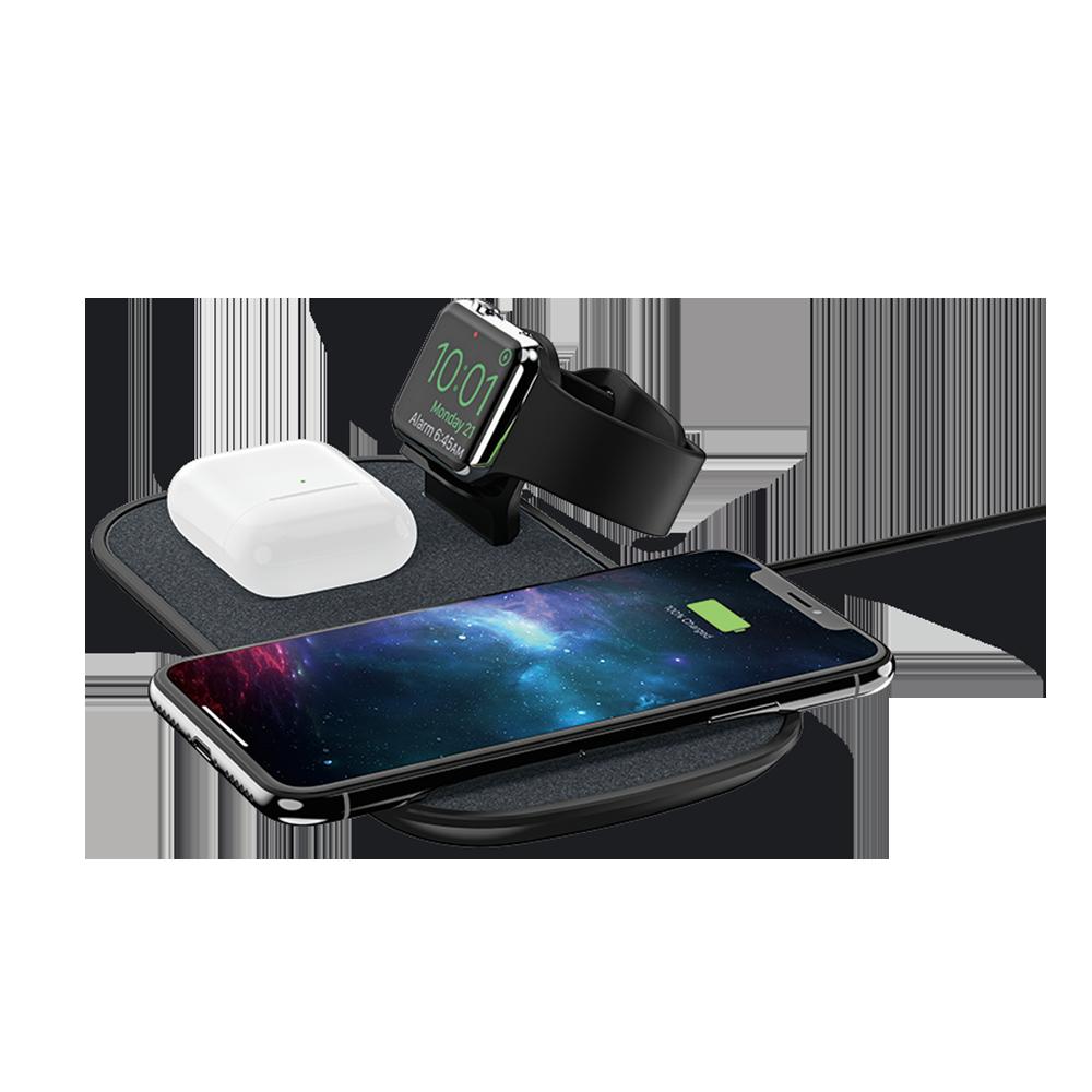 Беспроводное зарядное устройство Mophie 3-in-1 Wireless Charging Pad