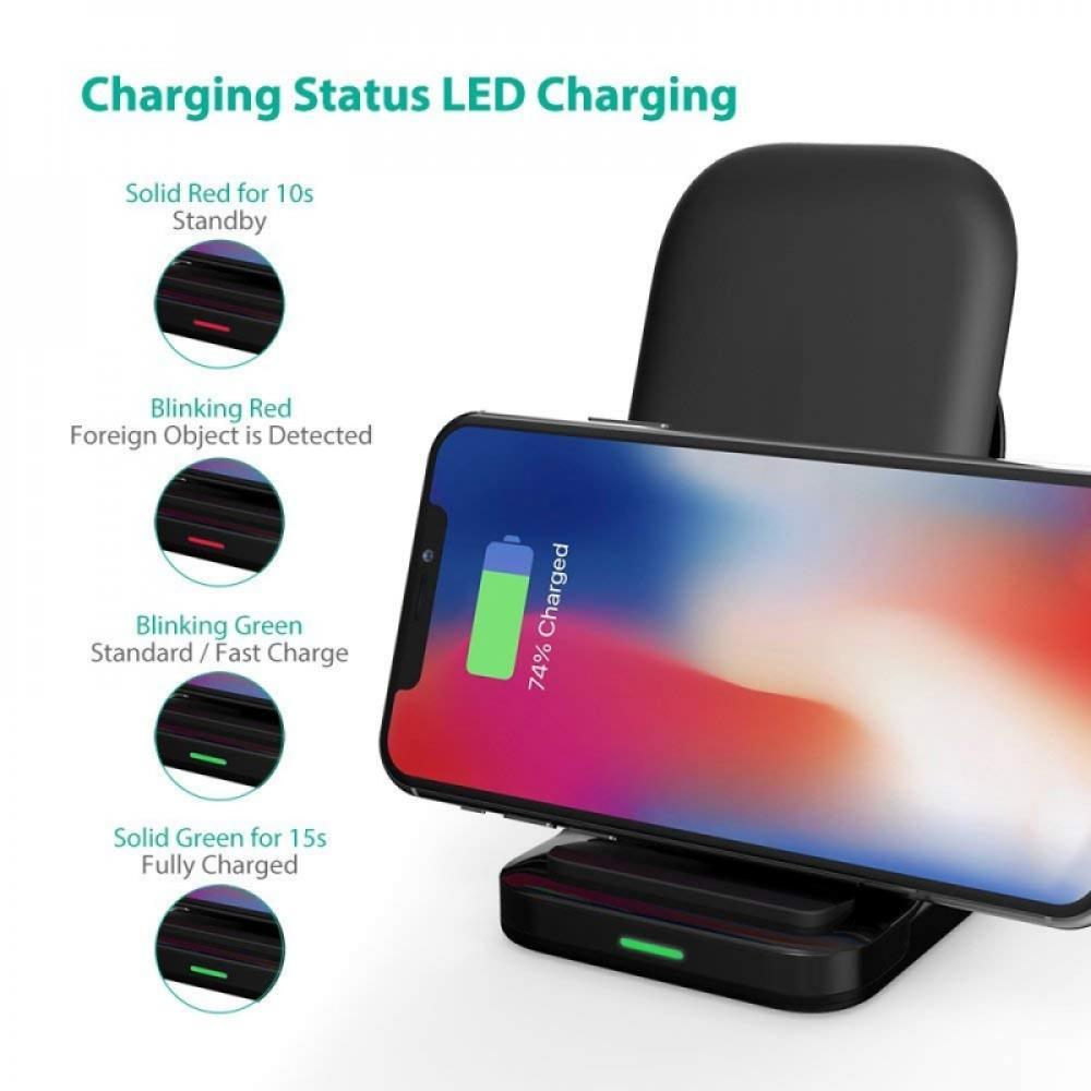 Беспроводное зарядное устройство RavPower HyperAir Wireless Charging Stand 7.5W