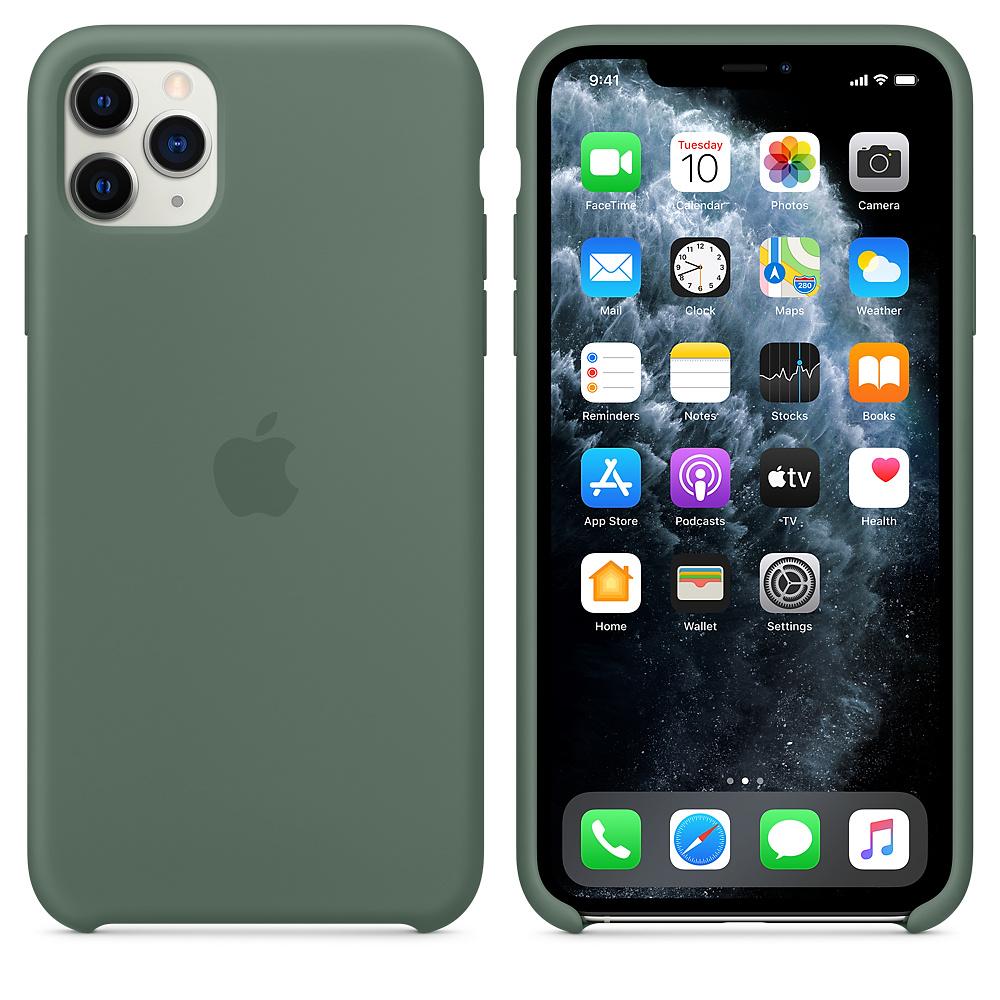 Силиконовый чехол Silicone Case для iPhone 11 Pro Max, Сосновый лес