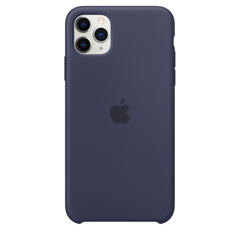 Силиконовый чехол Silicone Case для iPhone 11 Pro Max, Тёмно-синий