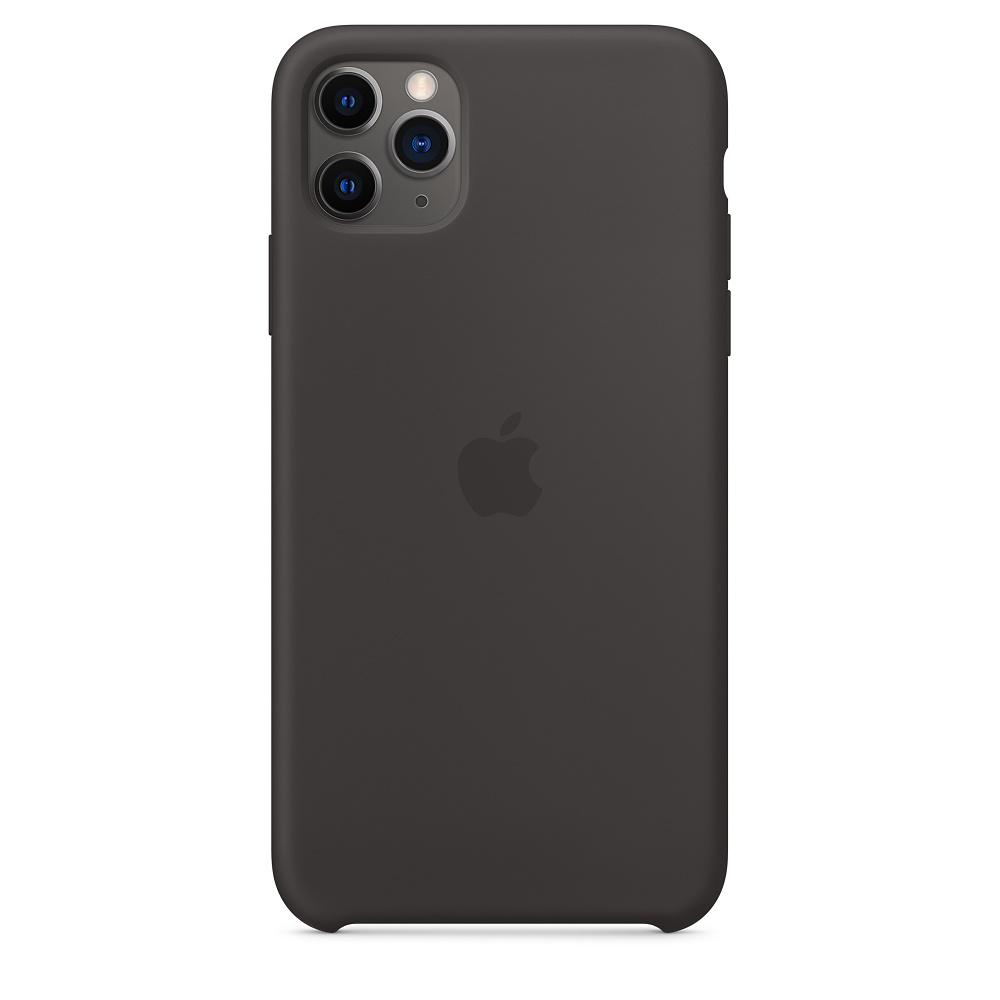 Силиконовый чехол Silicone Case для iPhone 11 Pro Max, Чёрный