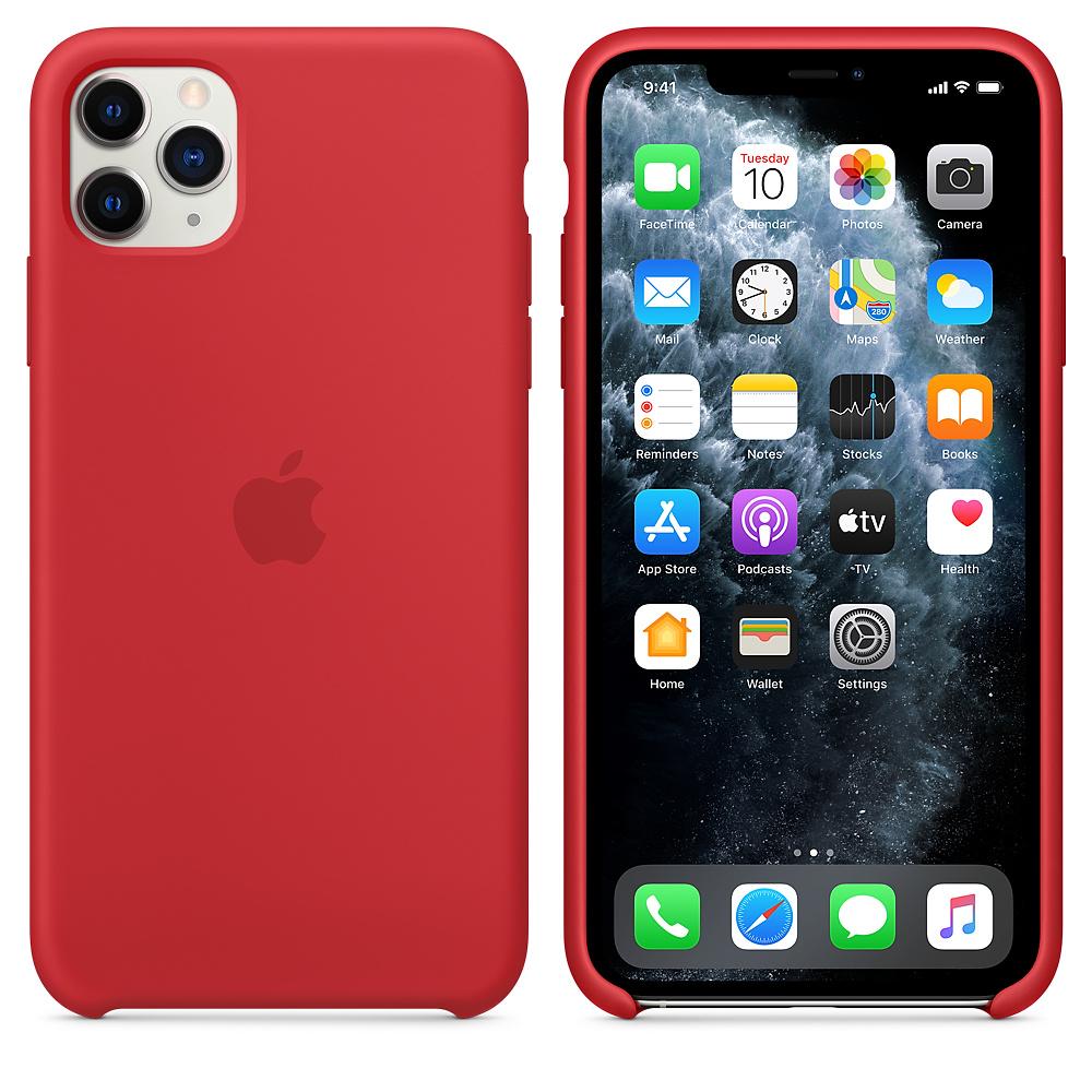 Силиконовый чехол Silicone Case для iPhone 11 Pro Max, Красный