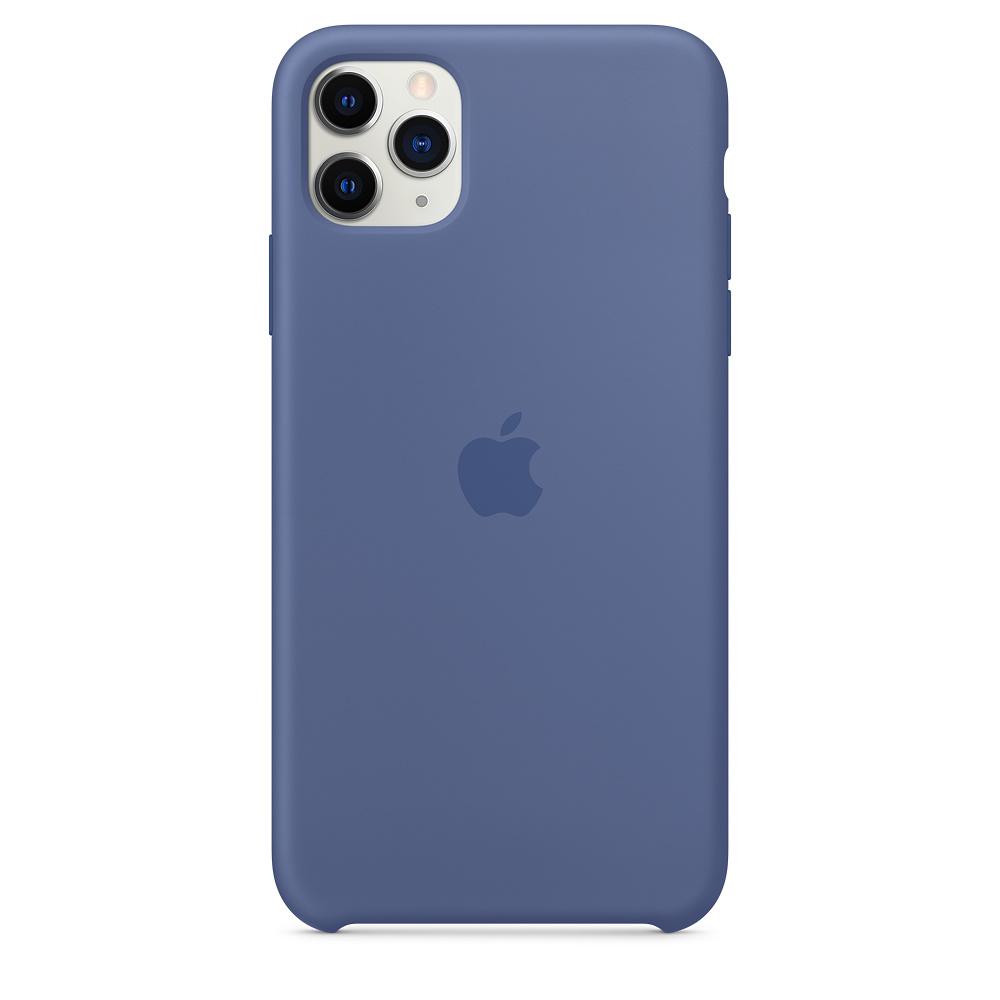 Силиконовый чехол Silicone Case для iPhone 11 Pro Max, Синий лён
