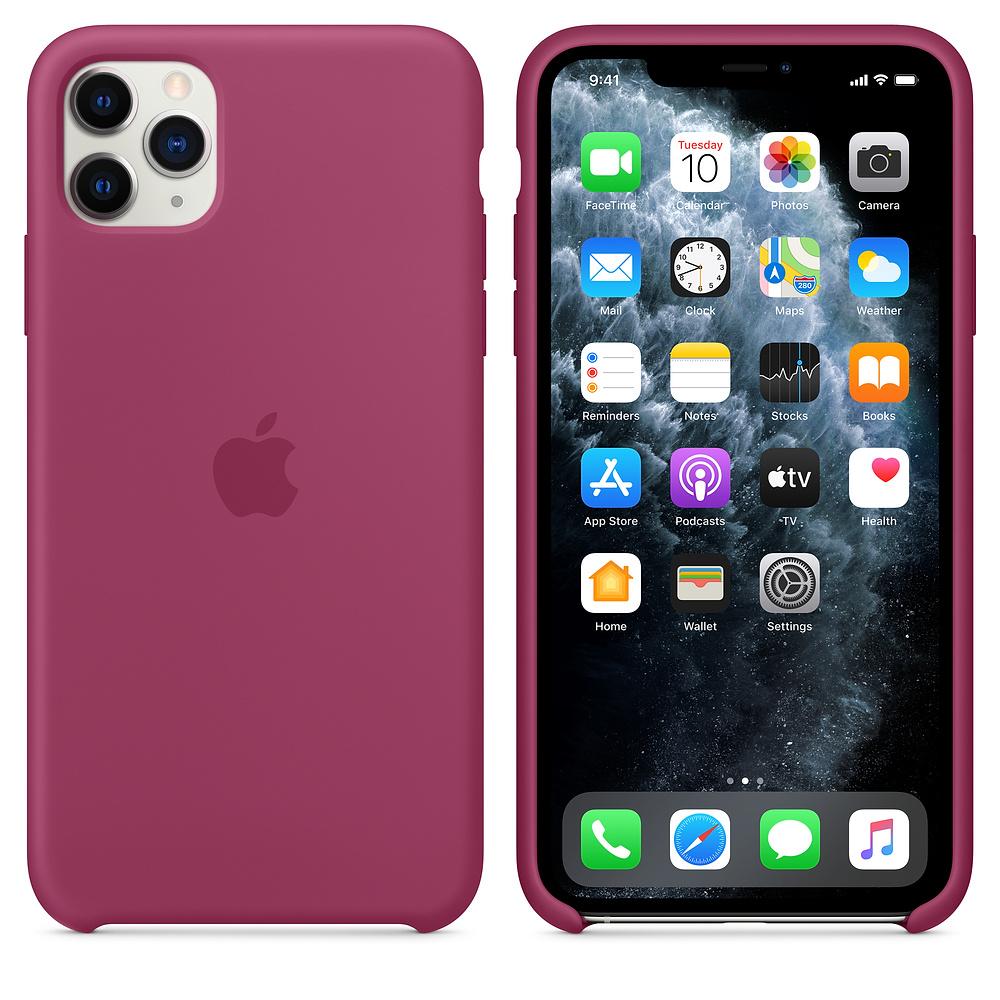 Силиконовый чехол Silicone Case для iPhone 11 Pro Max, Сочный гранат