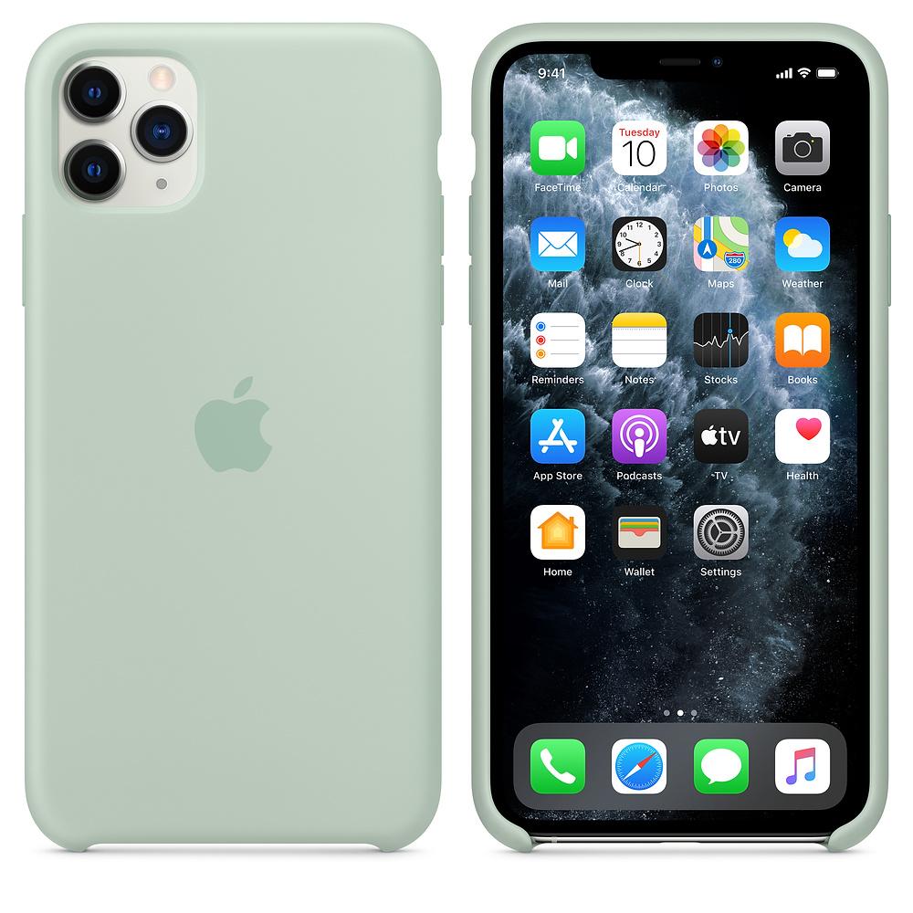 Силиконовый чехол Silicone Case для iPhone 11 Pro Max, Голубой берилл