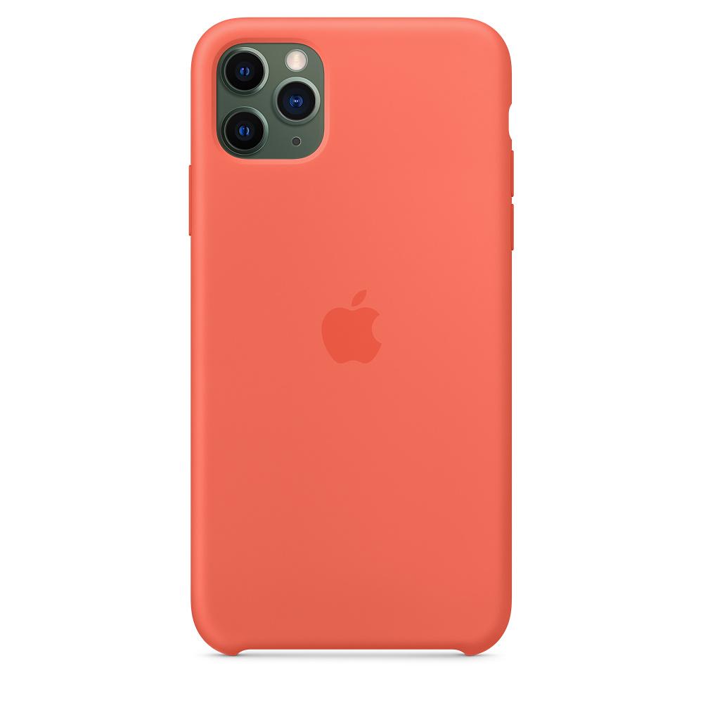 Силиконовый чехол Silicone Case для iPhone 11 Pro Max, Спелый клементин