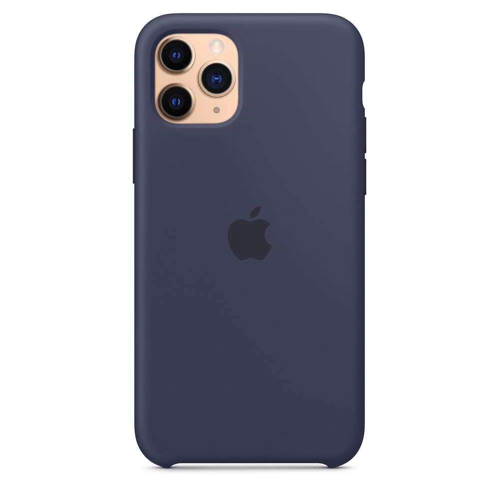 Силиконовый чехол Silicone Case для iPhone 11 Pro, Тёмно-синий
