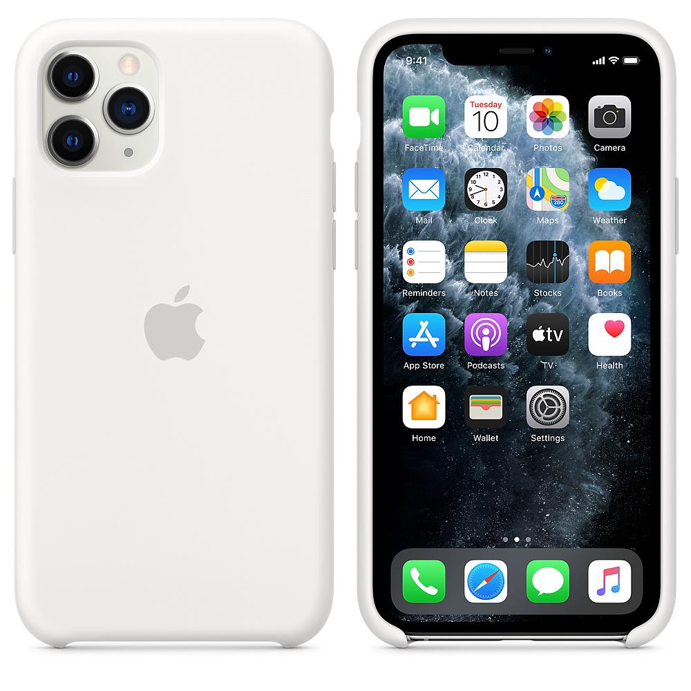 Силиконовый чехол Silicone Case для iPhone 11 Pro, Белый