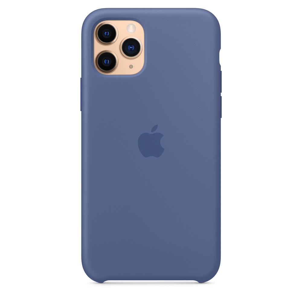 Силиконовый чехол Silicone Case для iPhone 11 Pro, Синий лён