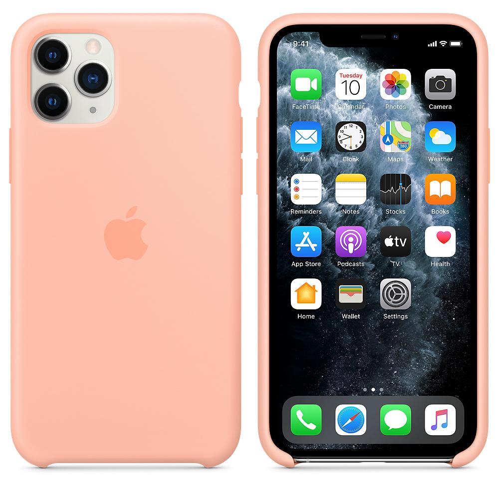 Силиконовый чехол Silicone Case для iPhone 11 Pro, Розовый грейпфрут