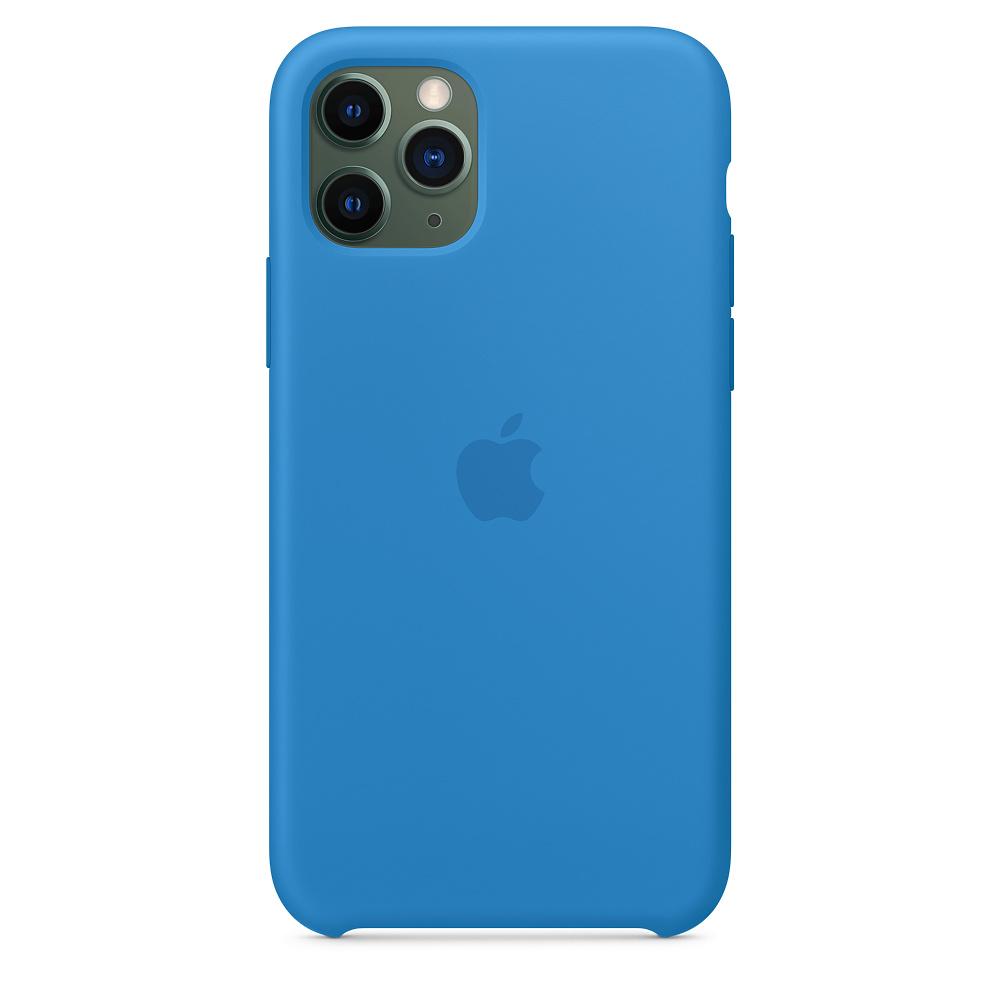 Силиконовый чехол Silicone Case для iPhone 11 Pro, Cиняя волна