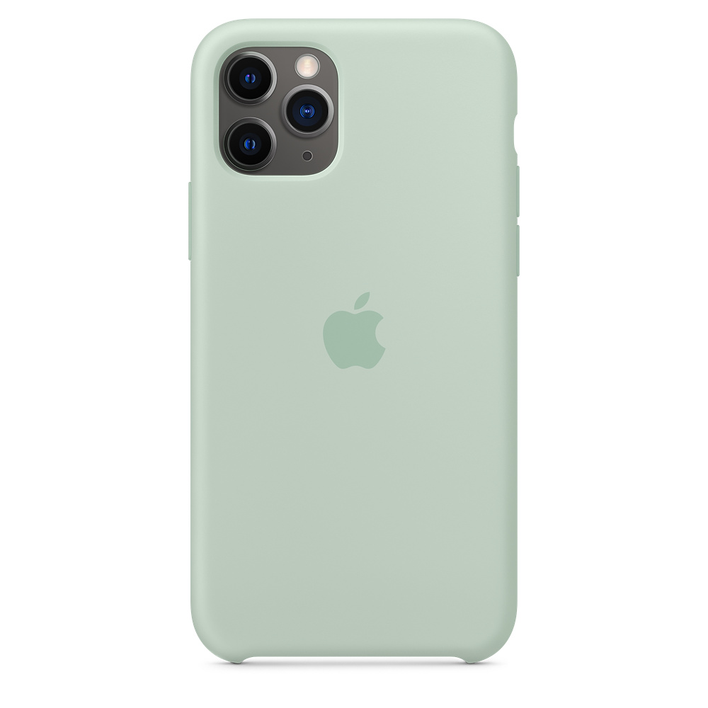 Силиконовый чехол Silicone Case для iPhone 11 Pro, Голубой берилл