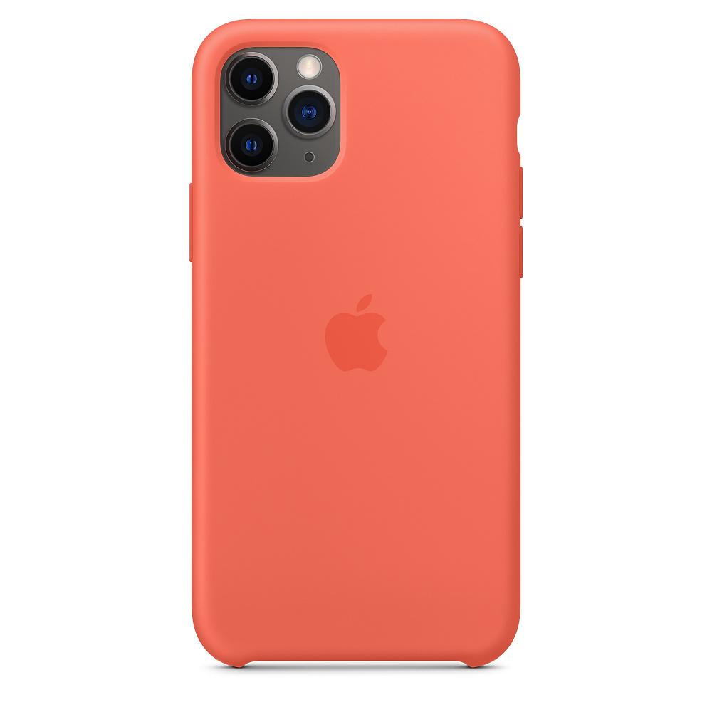 Силиконовый чехол Silicone Case для iPhone 11 Pro, Спелый клементин