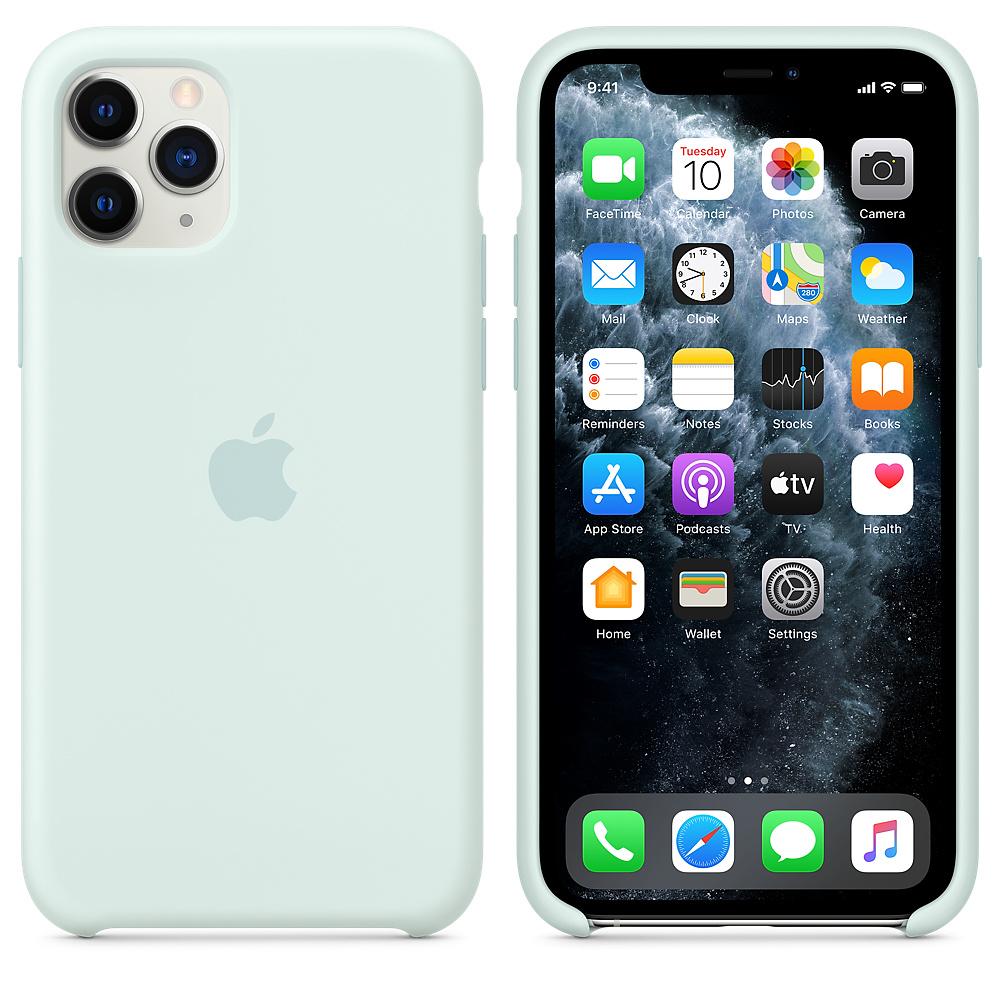 Силиконовый чехол Silicone Case для iPhone 11 Pro, Морская пена