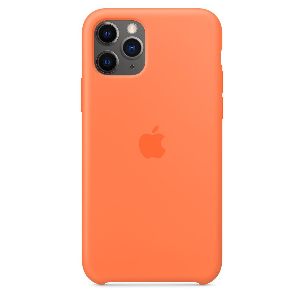 Силиконовый чехол Silicone Case для iPhone 11 Pro, Оранжевый витамин