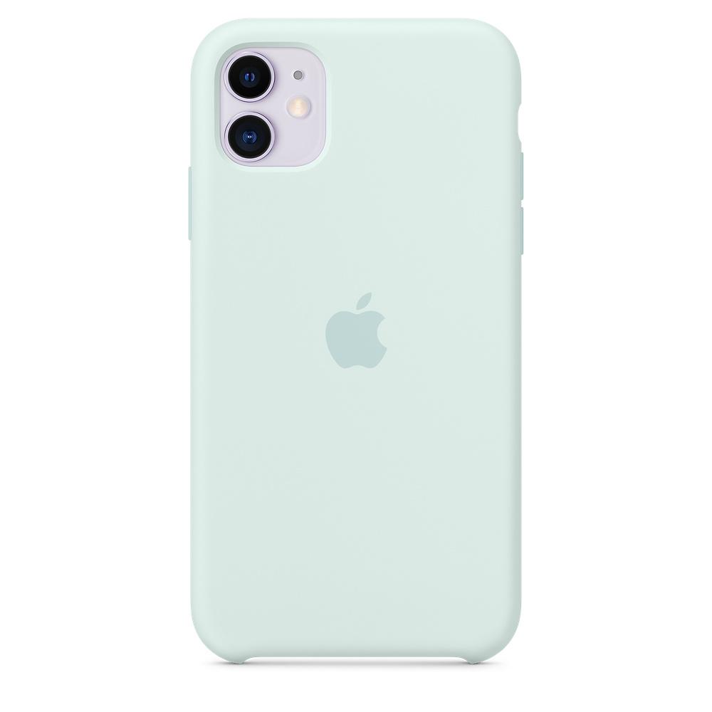 Силиконовый чехол Silicone Case для iPhone 11, Морская пена