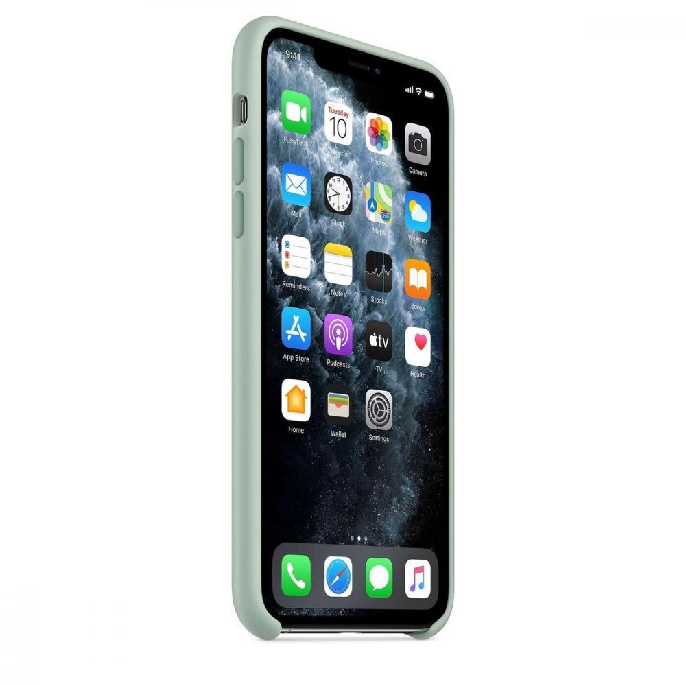 Силиконовый чехол Silicone Case для iPhone 11, Голубой берилл