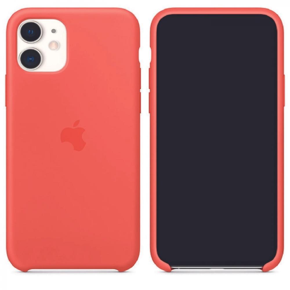 Силиконовый чехол Silicone Case для iPhone 11, Спелый клементин