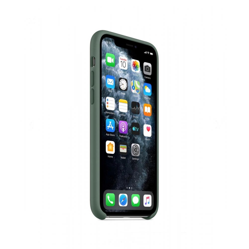 Силиконовый чехол Silicone Case для iPhone 11, Сосновый лес