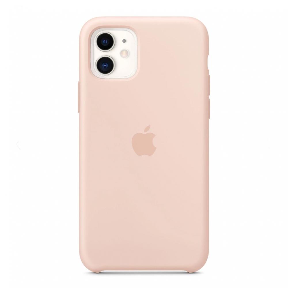 Силиконовый чехол Silicone Case для iPhone 11, Розовый песок