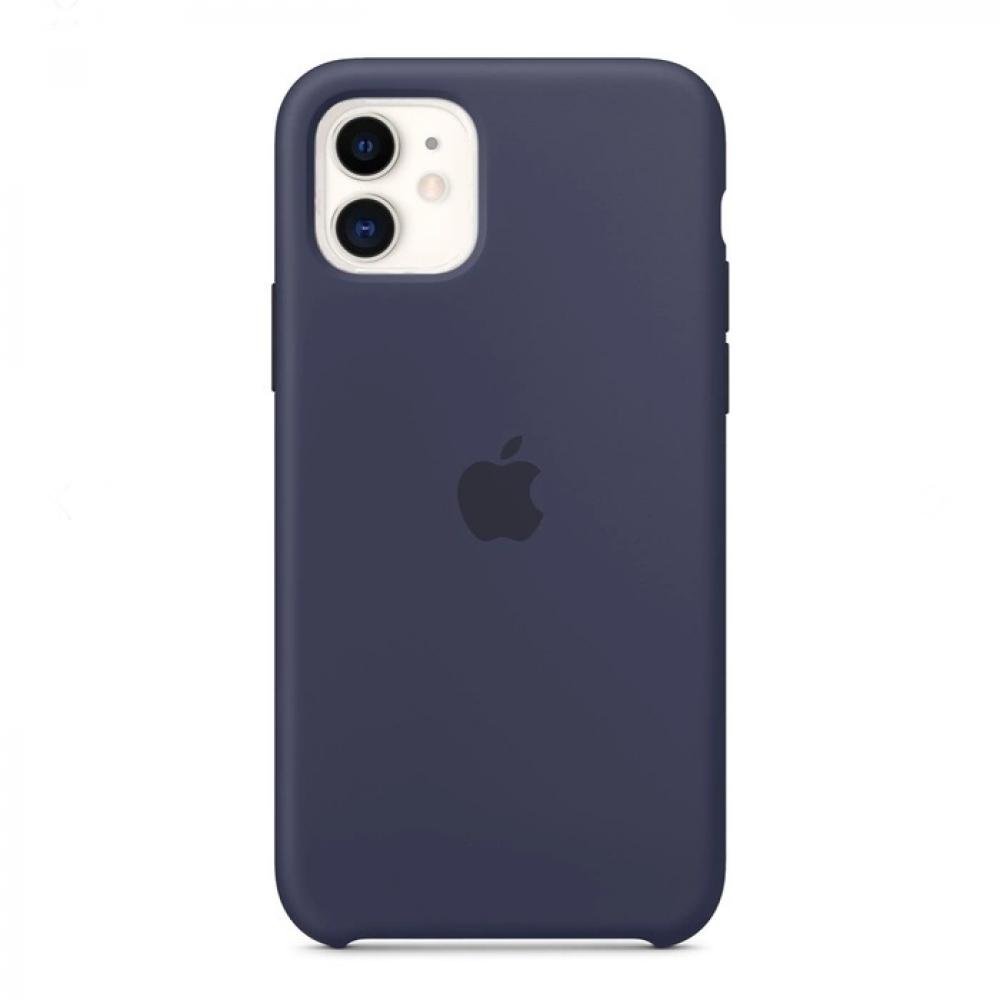 Силиконовый чехол Silicone Case для iPhone 11, Тёмно-синий