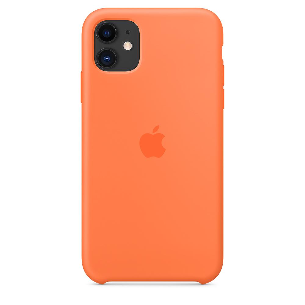 Силиконовый чехол Silicone Case для iPhone 11, Оранжевый витамин