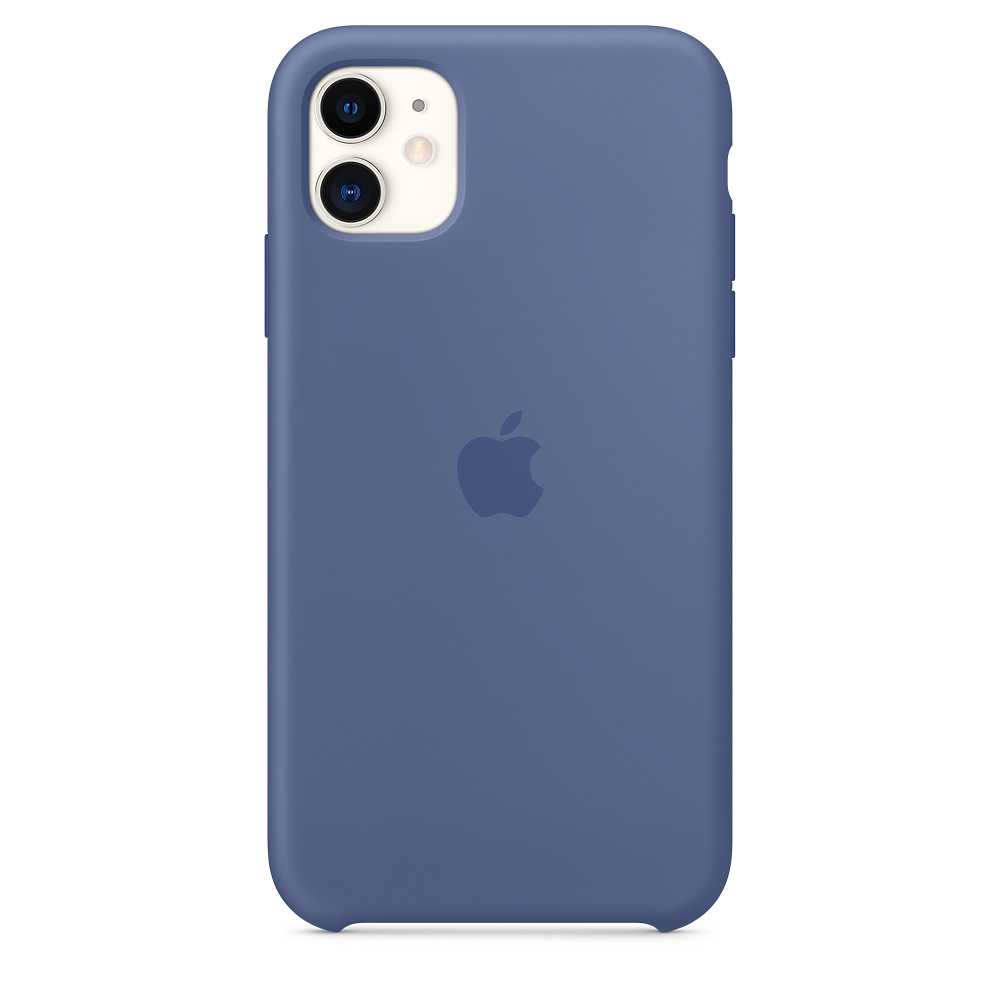 Силиконовый чехол Silicone Case для iPhone 11, Синий лён