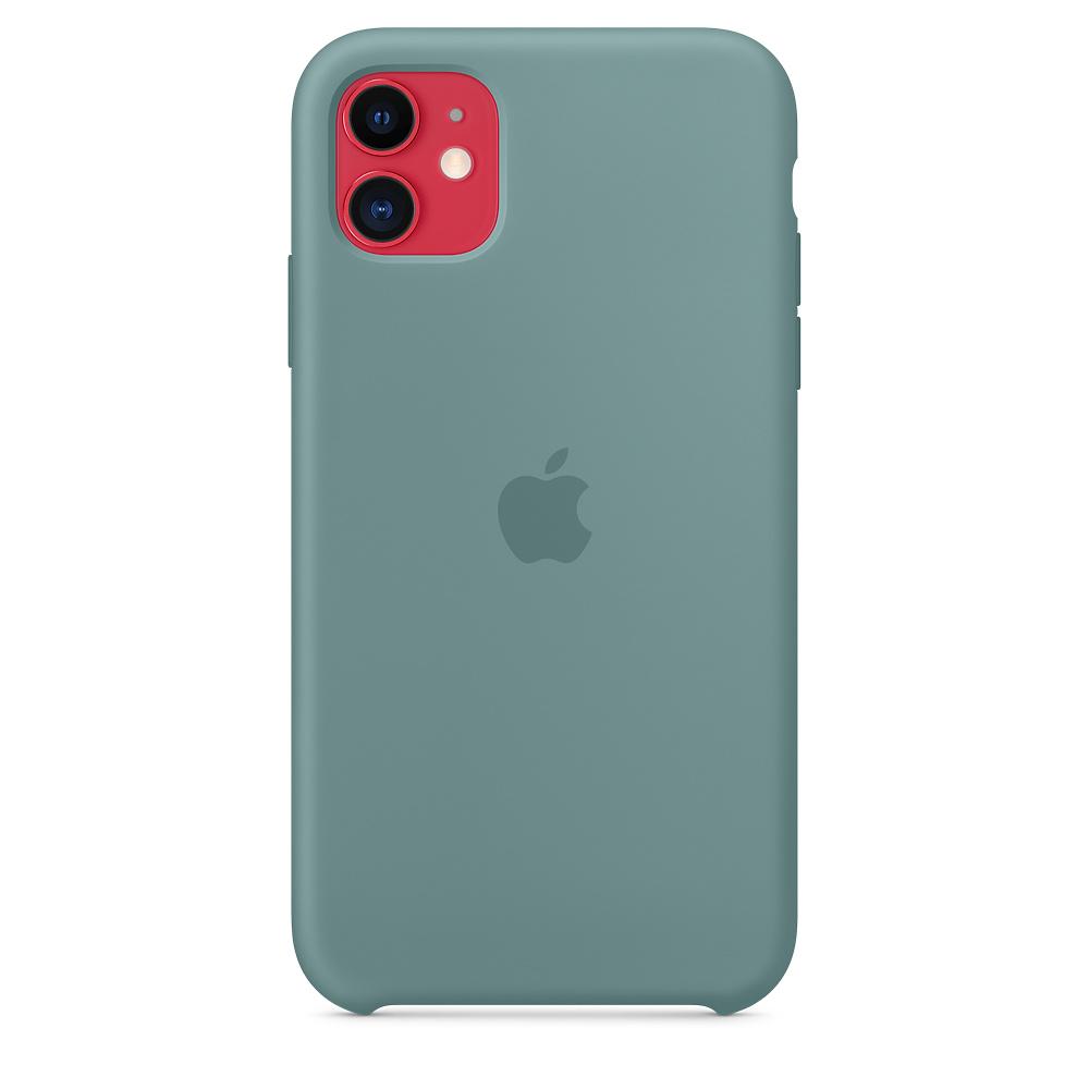 Силиконовый чехол Silicone Case для iPhone 11, Дикий кактус