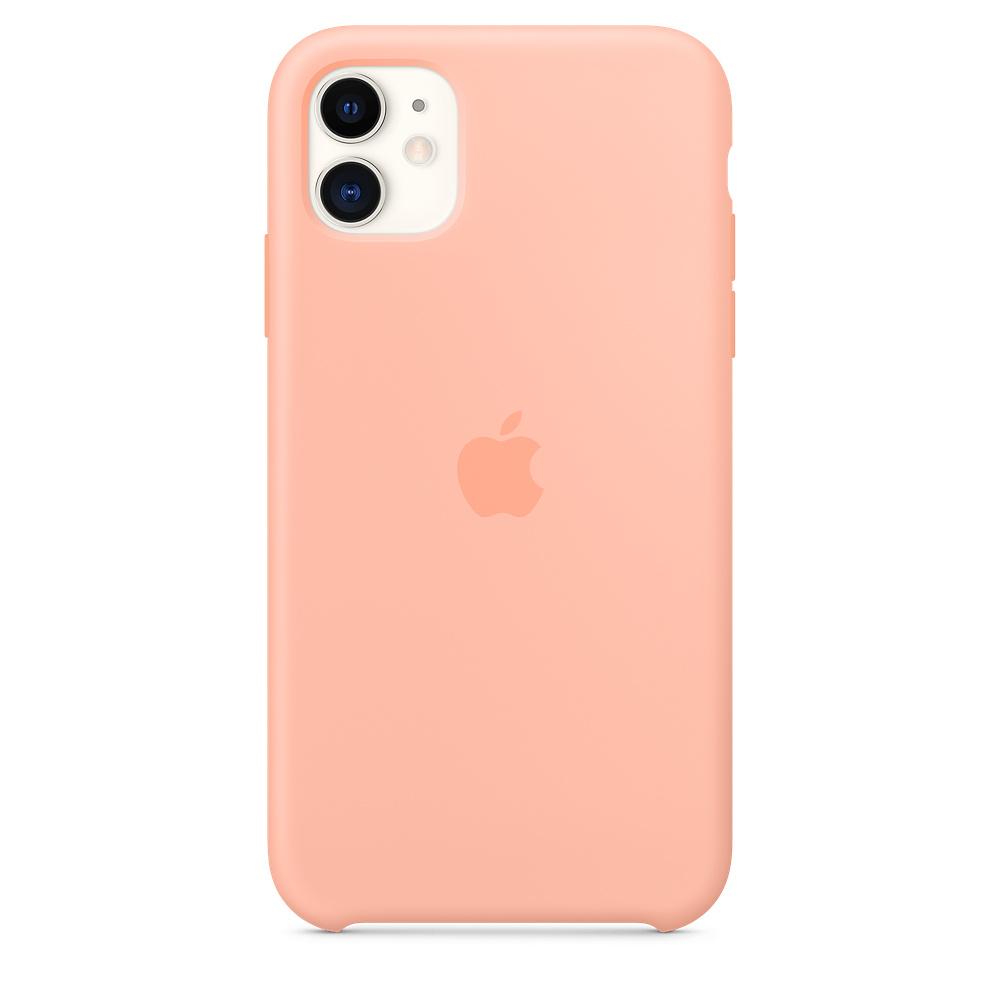 Силиконовый чехол Silicone Case для iPhone 11, Розовый грейпфрут